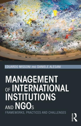 Management of International Institutions and NGOs